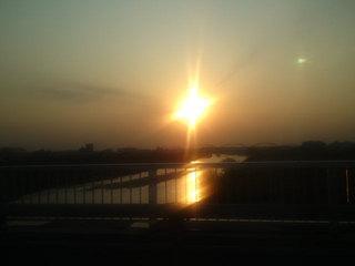 大和川と夕焼け